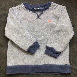 Carters blue stripe sweatshirt 18m
